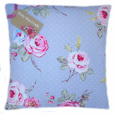 Shabby Chic Clarke and Clarke English Rose Duck Egg Blue fabric Cushion Cover