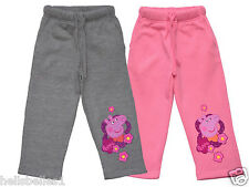 FULLY LICENSED PEPPA PIG FLEECE LINED JOGGERS/JOGGING PANTS TROUSER 3-8YRS