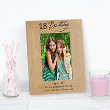 Personalised Age Birthday Frame 6x4 7x5 Message Engraved 13 16 18 21 30 40 50 60