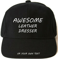 AWESOME LEATHER DRESSER PERSONALISED BASEBALL CAP HAT XMAS GIFT