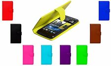 Magnetic Wallet Flip Book Card Holder Pu Leather Case Cover For HTC One Mini 2