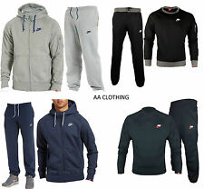 Nike Foundation Full Tracksuit Mens Brushed Fleece Jogging Top Bottoms