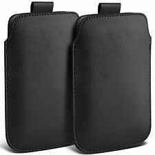 Twin Pack PU Leather Pull Tab Case Cover Pouch For Apple Iphone 5S
