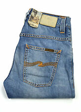 Nudie Hank Rey Jeans, Mid Worn Indigo, blue washed, Denim, Jeans, Neu