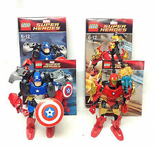 LEGO MARVEL UNIVERSE AVENGERS IRON MAN CAPTAIN ACTION FIGURE KITS