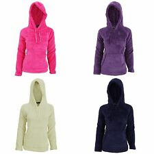 Womens/Ladies Soft Fleece Hooded Pyjama Snuggle Top With Pocket