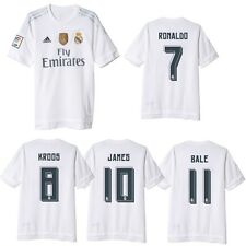 adidas Real Madrid Home WC Heimtrikot Badge 2015/2016 Ronaldo Bale Kroos James