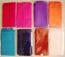 100% NATURAL RAW THAI SILK SCARF SHAWL WRAP ,19 COLOR CHOICES, LARGE 24in x 64in