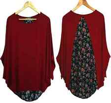 Women New Oversized Stylish Ladies Batwing Loose Shirt Blouse Baggy Tops Jumper
