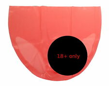 NEW Pink Latex Rubber Male Pants With Sheath & Pouch (ENGLISH) S M L