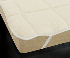 Mattress Topper Soft Warm Teddy Reversible Single Double King Super King Quilted
