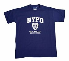 NYPD Kids Short Sleeve Screen Print T-Shirt Navy White New York Police Boys NWT
