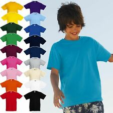 5er Pack Kinder T-Shirts, FRUIT OF THE LOOM Kids Valueweight Tee 61-033-0 * NEU