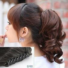 Womens Hot Causal Hairpiece Short Wavy Curly Claw Hair Ponytail Clip-on Hair A31