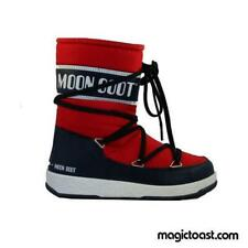 Moon Boot - Kids WE Sport Mid Junior - Red/Navy Blue Snow Shoes