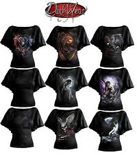 SPIRAL DIRECT Womens Latin Boatneck/Gothic/Dragon/Rock/Metal/Fairy/Angel/Top/Tee