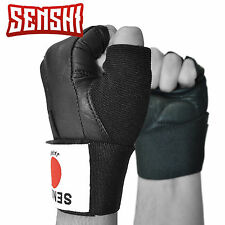 Senshi Japan Black Weight Lifting Bodybuilding Cycling Gloves Straps Padded Gym