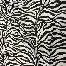 "Printed poly cotton Zebra print fabric material 115cm 45"" wide sold by metre"