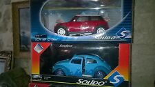 Choix SOLIDO 1/18me NEW Mini VW Coccinelle VAGUE BLEUE Karting SODIKART  NEUF