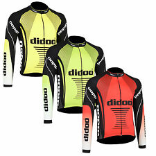 Didoo Men Top Cycling Jersey Thermal Cold Wear Long Sleeve Outdoor Racing Jacket