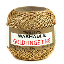 Twilleys Goldfingering Metallised Polyester 5 Count Crochet Crafting Yarn 25g