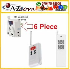 6pc Wireless RF Remote Control Switch Socket ON/OFF Home Automation so model to