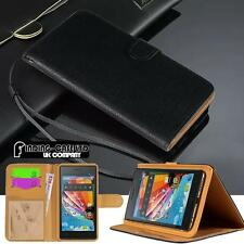 New Black Flip Cover Stand Wallet Leather Case for Various Mediacom PhonePad Duo