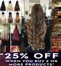 """Hair extensions 18-28"""" Heat Resistant clip in one piece long curly wavy straight"""