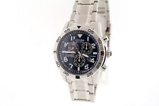 Men's Citizen BL5470-57L Stainless Steel Eco-Drive Chronograph Blue Dial Watch