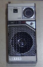 VINTAGE TRANSISTOR RADIO ~ SAXON ~ AM/FM ~ 9V ~ MADE IN HONG KONG