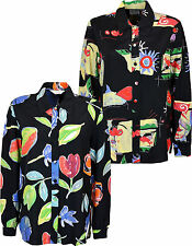 Women's Long Sleeve SHIRT Blouse BUTTON THROUGH SIZES 12 14 16 18 20 22 24 26