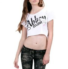 ABBEY DAWN MUJER DISTRESSED TOP BLANCO / CAMISETA / CAMISETA (B6B)