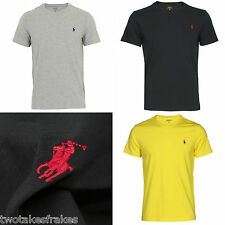 Ralph Lauren Polo Mens Custom Fit Crew Neck T-Shirt Tee Top Small Pony Bnwt New