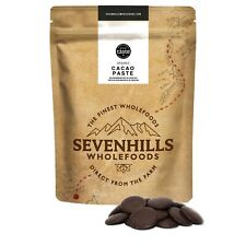 Sevenhills Wholefoods Organic Cacao Paste Wafers | Chocolate Detox, Baking