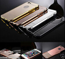Mirror Back Cover + Aluminum Metal Frame Bumper Case For Apple Iphone 6  6S