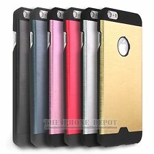 Hybrid Aluminum Metal Brushed Hard Case Cover For iPhone 4 4S 5 5S SE 6 6 Plus