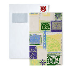 Tapeten Muster EDEM 071-Serie | Tapete Scrapbooking Style Funky Collage Design