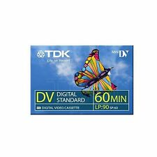 TDK DVM 60 Mini DV Camcorder Tapes SP60 - LP90 1 3 5 10 20 50 100 MDV