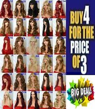 Black brown blonde wig Long Wig Curly Straight Wig Women Ladies Full hair wig