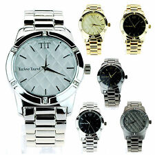 Mens Simple Bling Luxury Designer Dress Analog Round Wrist Watch