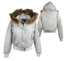 Stormhaus Hooded Padded Jacket Coat Fur Trim Womens Youths Size 10 12 rrp £49.99