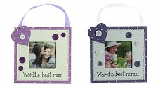 Personalised Mum Nanna Hanging Photo Frame, by Juliana, Birthday Gift **SALE**