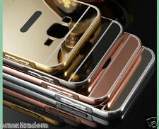 Mirror Back Cover + Aluminum Metal Frame Bumper Case For Samsung Galaxy ON 7