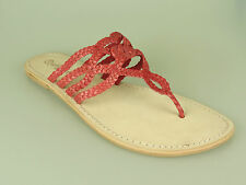 Why Not Ankle-Strap Sandal Red Leather Hot Coral n231023 NEW VARIOUS SIZES