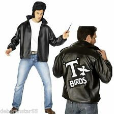 Smiffys Official Mens Grease T-Birds Fancy Dress Costume Jacket & Flick Comb