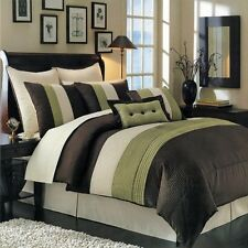 Hudson Luxury 12 PC Bed in a Bag Comforter Set Includes Comforter Sheets Sham