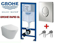 Grohe Rapid SL WC Set Vorwandelement Design-Wand-WC Best-Clean Beschichtung