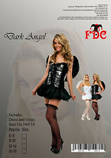 ANGEL SAINT SEXY FANCY DRESS COSTUME DARK ANGEL SIZE 8-10
