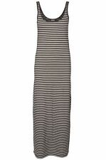 Vero Moda Kleid XS S M L XL Nanna Ancle Dress 10108209 gestreift uni maxi lang