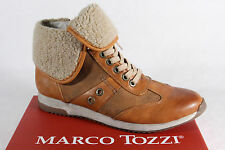 Marco Tozzi Ankle Boots brown, warm lining Zip leather new